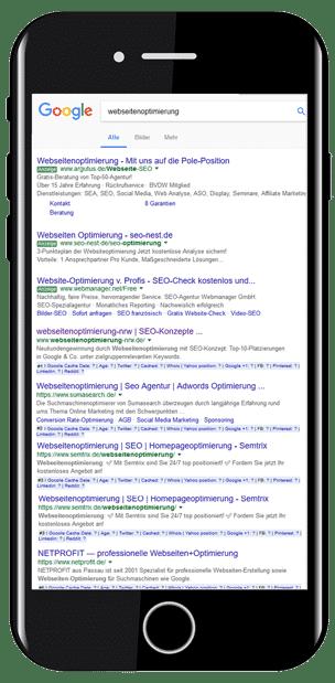Topplatziert bei Google werden Sie gefunden